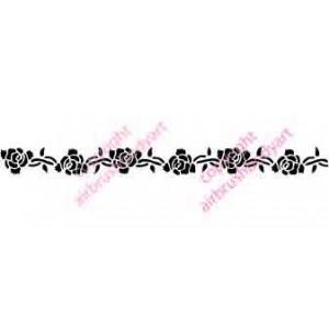 0264 Rose armband reusable stencil